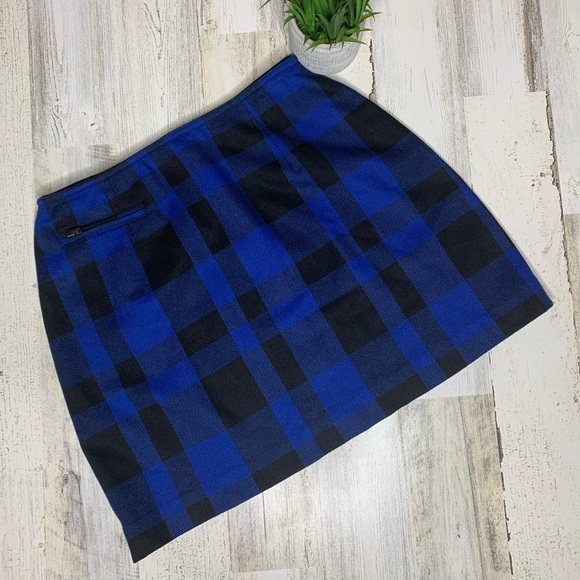 The Limited Dresses & Skirts - Vintage Limited skirt buffalo check blue and black